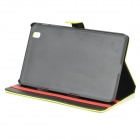 Protective PU Leather Full Body Case for Samsung Galaxy Tab Pro 8.4 T320 - Fluorescent Yellow