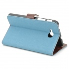 Funda protectora de piel Denim PU para Samsung Galaxy Tab 3 Lite T110 - Blue Light + Brown
