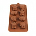 Small Animal Ice Cube Chocolate Mold - Coffee (Size M)