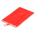 "Universal Protective Flannelette Bag Pouch for 7"" Tablet PC - Red"