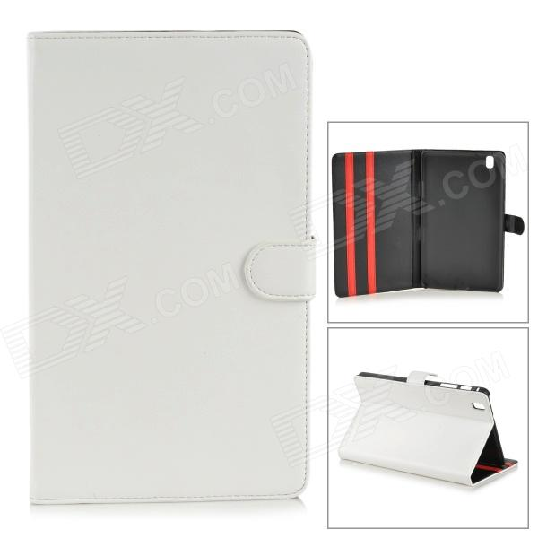 Protective PU Leather Flip-Open Case w/ Stand for Samsung Galaxy Tab Pro T320 - White protective pu leather flip open stand case w stylus for samsung galaxy tab pro 8 4 t320 white