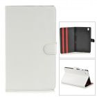 Protective PU Leather Flip-Open Case w/ Stand for Samsung Galaxy Tab Pro T320 - White