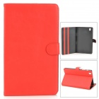 Protective PU Leather Full Body Case for Samsung Galaxy Tab Pro 8.4 T320 - Red