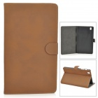 Protective PU Leather Full Body Case for Samsung Galaxy Tab Pro 8.4 T320 - Dark Brown