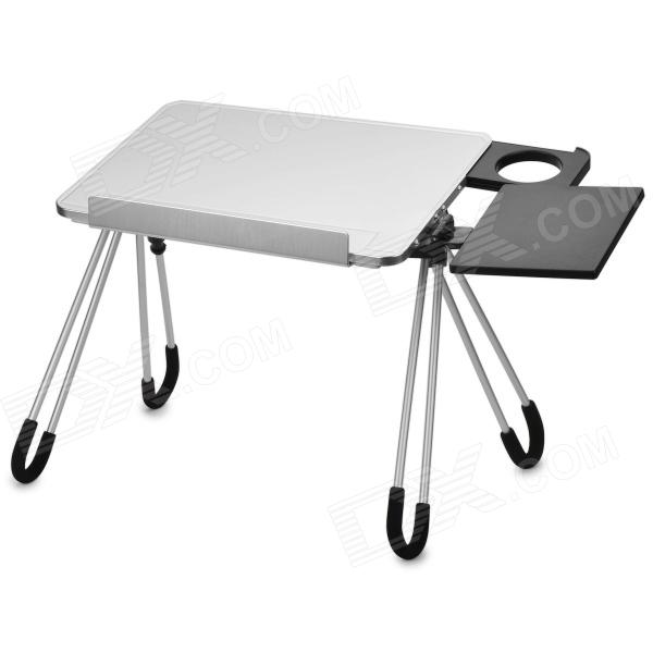 LD05 Fashion Aluminum Alloy Folding Laptop Table - Silver White + Black hot multifunctional adjustable laptop table notebook stand desk bed sofa tray portable notebook desk