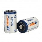 ER14250 3.6V Disposable Li-ion Batteries - White + Blue + Multi-Colored (2 PCS)