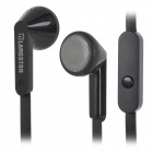 LANSHIDUN IN-28 Universal 3.5mm In-Ear Earphone w/ Mic / Remote for Samsung / HTC + More - Black
