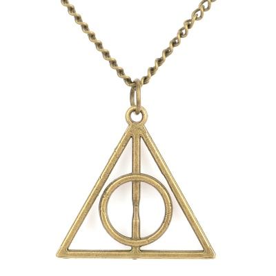 Deathly Hallows Style Zinc Alloy Pendant Necklace - Coppery