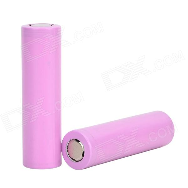 Rechargeable 3.7V 1800mAh Lithium Ion 18650 Batteries - Light Pink + Silver (2 PCS)