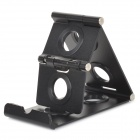 X1 Aluminum Alloy Multifunction Desktop Fold-up Holder for Cellphones / Tablets - Black