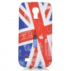 IKKI Stylish UK Flag Pattern TPU Back Case for Samsung Galaxy S4 Mini / i9190 - White + Blue