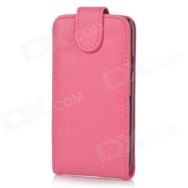 Protective Top Flip Open PU Leather Case w/ Card Slot for Samsung Galaxy S5 - Deep Pink protective pu leather flip open case w stand for samsung note 3 n9000 deep pink light green