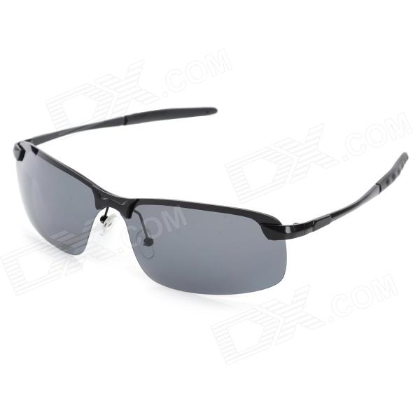 CARSHIRO 3043 Fashion UV400 Protection Zinc Alloy Frame Resin Lens Sunglasses for Men - Black