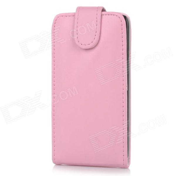 Protective Top Flip Open PU Leather Case w/ Card Slot for Samsung Galaxy S5 - Pink protective pu leather case w card slot for samsung galaxy tab3 p3200 deep pink