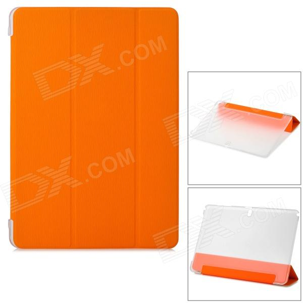Protective PU Case w/ Stand Set for Samsung Galaxy Note Pro 12.2 P900 / 905 - Orange + Transparent metal ring holder combo phone bag luxury shockproof case for samsung galaxy note 8