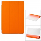 Protective PU Case w/ Stand Set for Samsung Galaxy Note Pro 12.2 P900 / 905 - Orange + Transparent