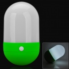 Creative Pill Tumbler Style 1-LED Neutral White Light 3-Mode Camping Lamp - Green + White (4 x AA)