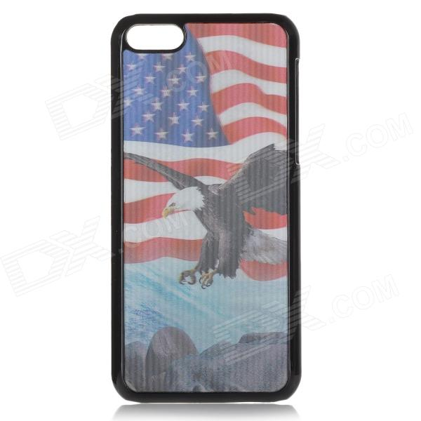 Cool 3D Eagle US Flag Pattern ABS Back Case for IPHONE 5 / 5C - White + Red 4800 refillable cartridge printer cartridge for epson stylus pro 4800 printer t5651 with chips and chip resetter on high quality