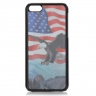 Cool 3D Eagle US Flag Pattern ABS Back Case for IPHONE 5 / 5C - White + Red