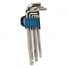 LB-025M Hex Key Wrenches Set - Silver (9 PCS)