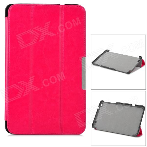 Protective PC Case w/ Stand for Lenovo Miix2 8 - Dark Pink lychee pattern protective pu case w stand for lenovo miix2 8 dark blue