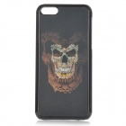 Cool 3D Skull Pattern ABS Back Case for IPHONE 5 / 5C - Black + Blue + Yellowish-brown