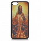 Cool 3D Peacock Woman Pattern ABS Back Case for IPHONE 5C / 5 - Black + Yellow