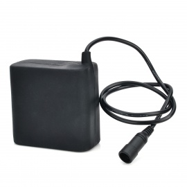 8.4V 8000mAh Lithium Ion Rechargeable 8 x 18650 Waterproof Battery - Black
