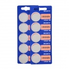 Sony 3V CR2025 Lithium Ion Button Cell - Silver (10 PCS)