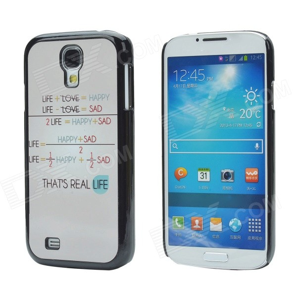 That's Real Life Protective Aluminum Alloy + PC Back Case for Samsung Galaxy S4 - Black + Light Brow