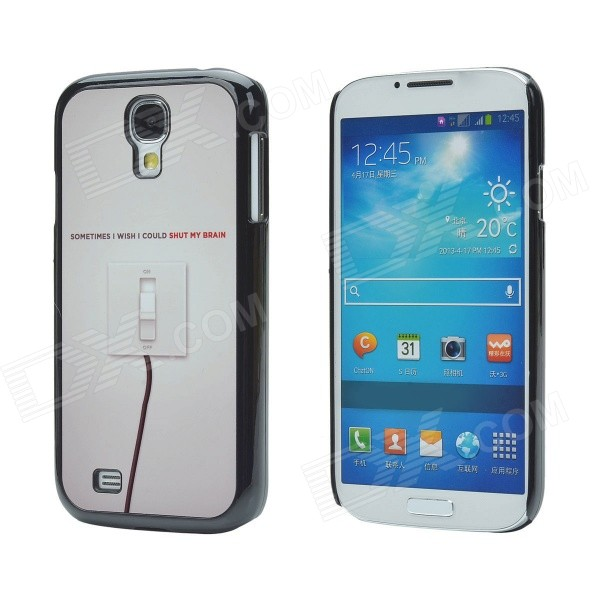 I Wish Protective Aluminum Alloy + PC Case for Samsung Galaxy S4 - Black + Light Brown