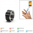 Intelligent Magic Ring Smart NFC Ring for Smart Phone - Black + Silver (Size 11)