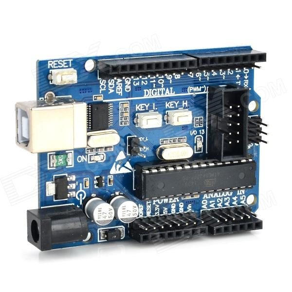 купить UNO R3 atmega328p avr Development Board for Arduino - Deep Blue недорого