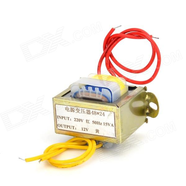 EI 15VA 220V to 12V Power Transformer - Golden