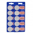 Sony 3V CR2016 Lithium Ion Button Cell - Silver (10 PCS)