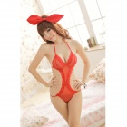 9967 Sexy Lace One-Piece Underwear - Red