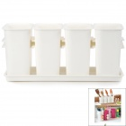 Multifunctional Organizer PP Can Case w/ Drain Holes - White (4 PCS)