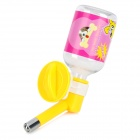 E4LJ Stainless Steel + Plastic Hanging Drinking Water Bottle for Pet Dog / Cat - Yellow