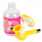 Stainless Steel + Plastic Hanging Drinking Water Bottle for Pet Dog / Cat - Yellow