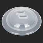 Universal Anti-dust Spill-proof Polypropylene Cup Bowl Cover Lid - Translucent White (2 PCS)