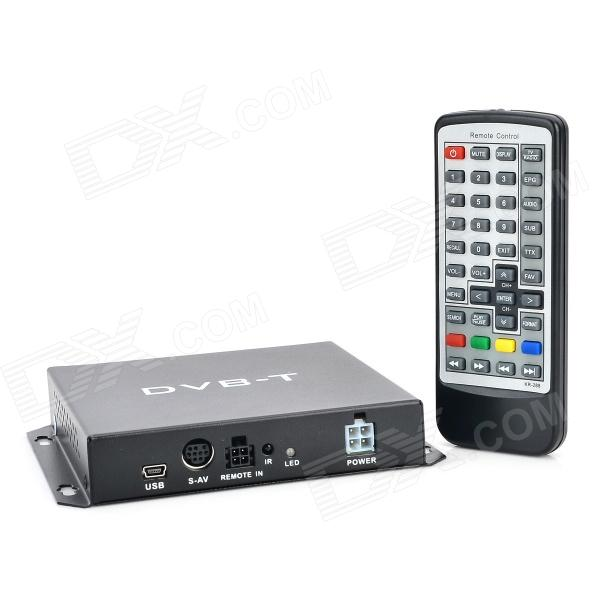 TV034 DVB-T MPEG-4 Car Digital TV Receiver - Black car digital tv box dvb t dual tuner mpeg2 and mpeg4 avc h 264 for english french german italian spanish greek russian