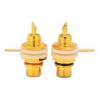 WLXY WL-115 Gold Plated Audio Terminal RCA Connector - Golden