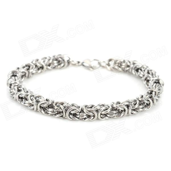 SHIYING SL0149 Stylish Stainless Steel Bracelet for Men - Silver shiying sl00090 316l stainless steel bracelet for men silver