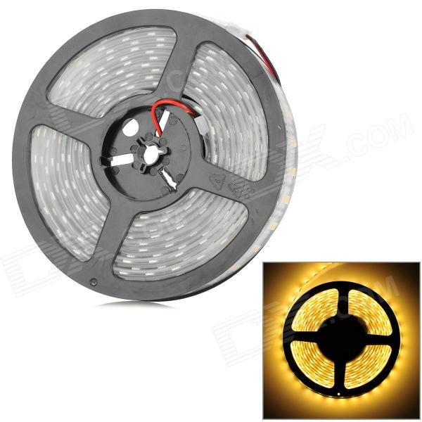 IP67 144W 4200lm 3200K 600-5050 SMD LED Warm White Light Car Decoration LED Strip (12V / 5M)