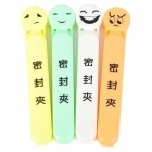 Cute Emoji Pattern PP Bag Sealing Clip - Multicolored (4 PCS)