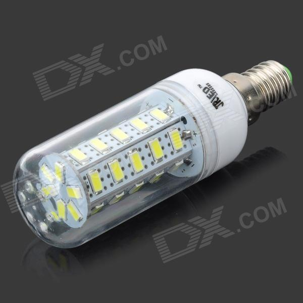 JRLED E14 7W 450lm 6500K 36-5630 SMD White Bulb - White + Silver (AC 220~240V) retro leisure cafes against the wall bar table home high bar table long solid wood metal bar table