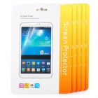 Protective Matte PET Screen Protectors for Samsung Galaxy Tab 3 Lite T110 - Transparent (5 PCS)