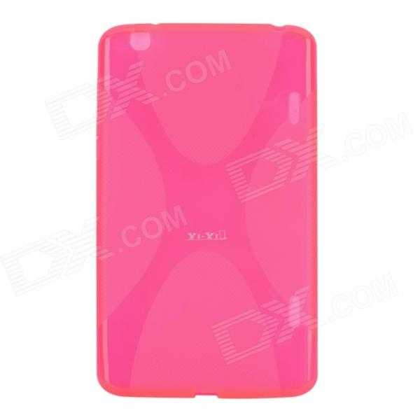 YI-YI Protective TPU Back Case w/ Screen Protector for LG G Pad V500 - Deep Pink