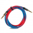 3.5mm Male to Male Audio Cable - Red + Blue (120cm)