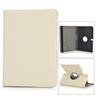 Protective Flip Open PU Case w/ Screen Guard / Stylus for Samsung Galaxy Tab Pro 10.1 - Off-White
